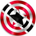 CAPTAIN AMERICA TRINIDAD AND TOBAGO Flag decal sticker