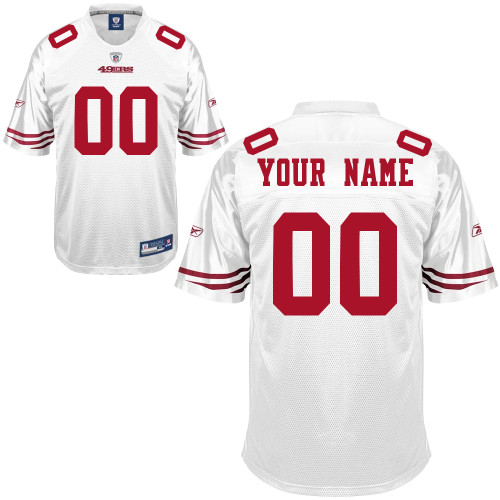 separation shoes 2393d 9166e San Francisco 49ers Road Jersey Custom Letters & Numbers ...